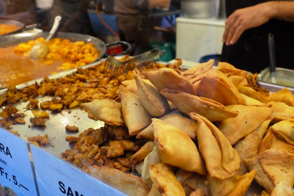Samosas are one of the best snacks you can get at the Street Food Festival Basel