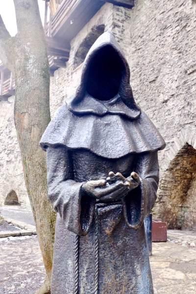 Tallinn city break Mysterious monk as seen on a weekend in Tallinn