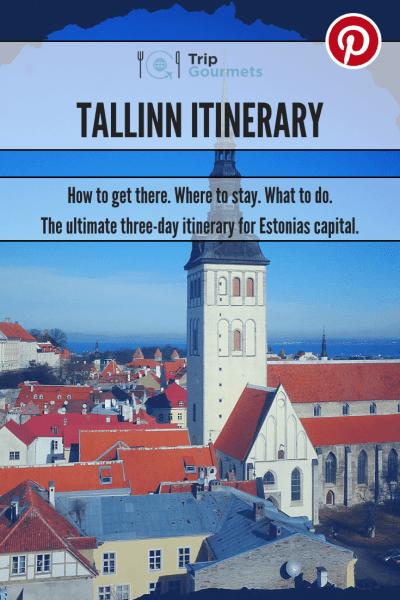 Tallinn Itinerary Pin