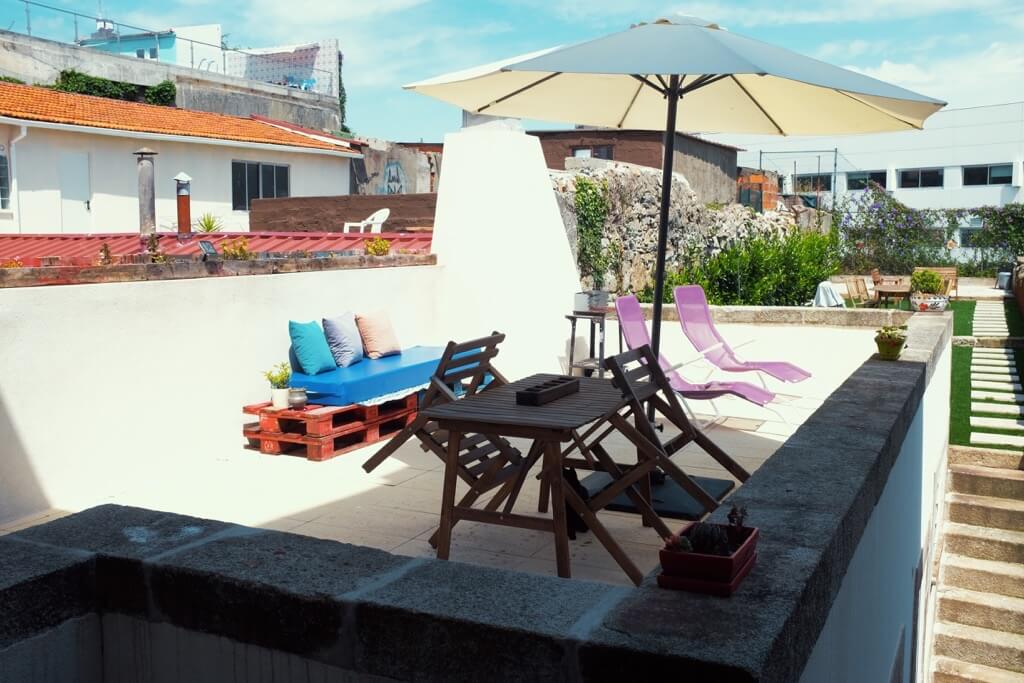 Three days in Porto . Our lovely big terrace at the AirBnB