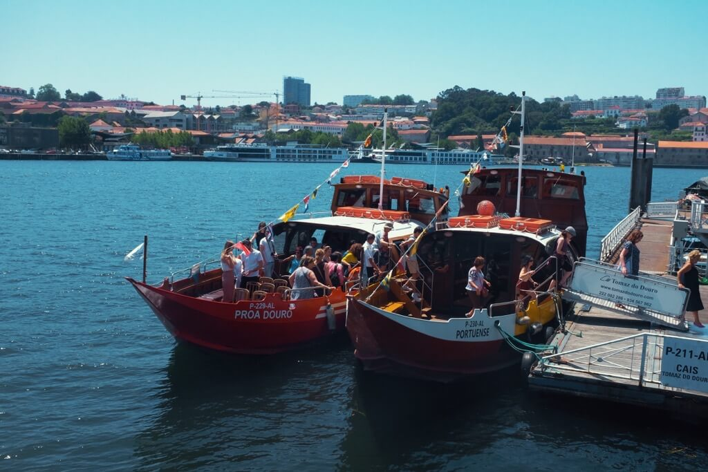 Three days in Porto . River cruise boats