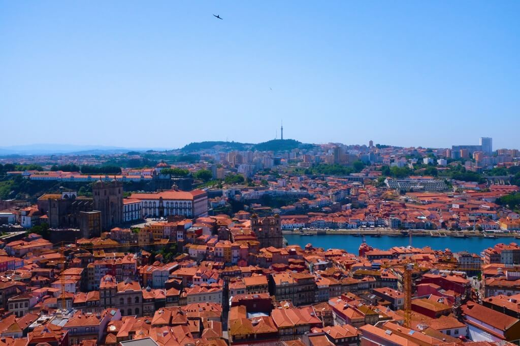 Three days in Porto . View from the top of the clerigos tower