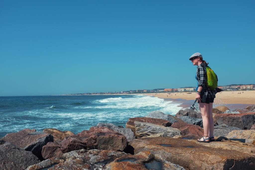 Three days in Porto. Sarah at the beach