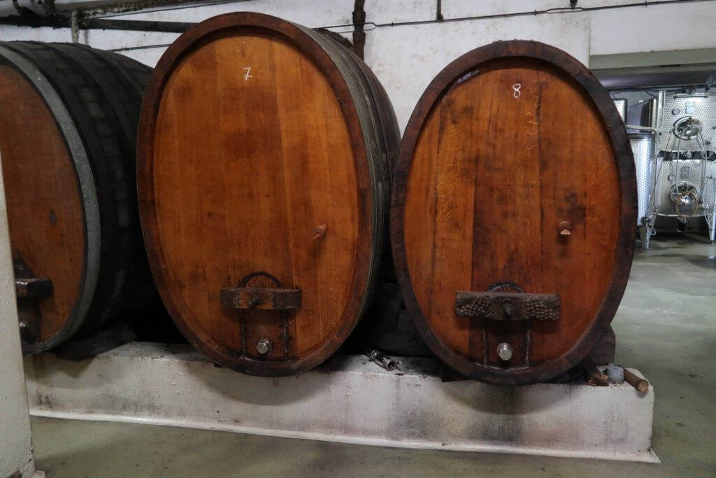 Alsace wine route - wine barrels