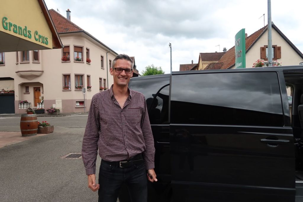 Our guide Marc from the Alsace wine route tour