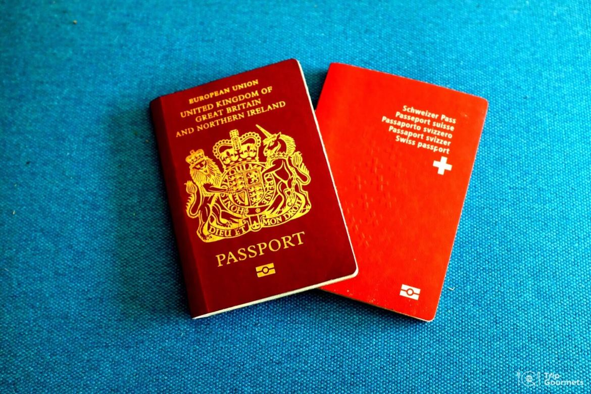 Full-time travel, Swiss and British passport