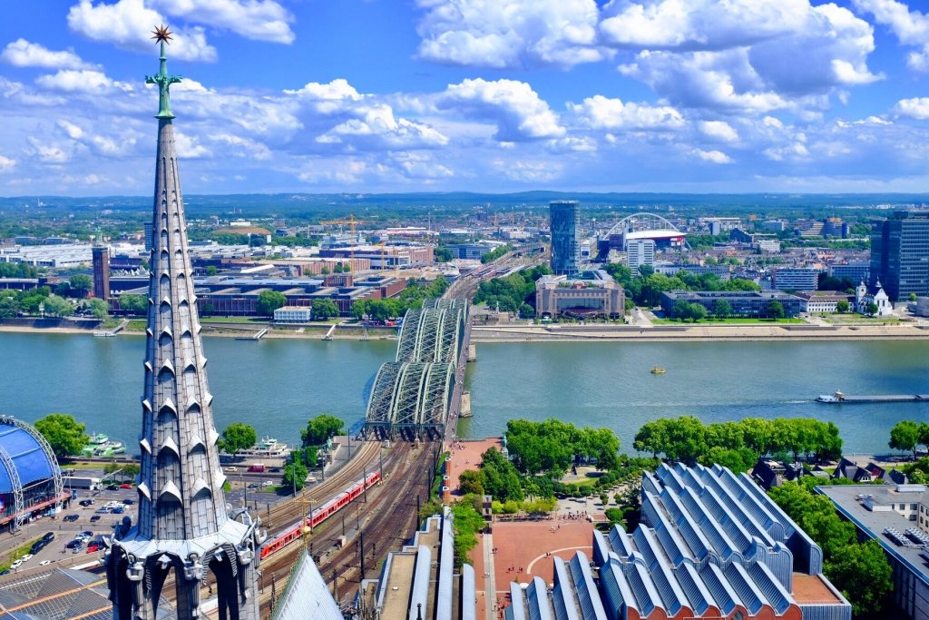 things to do in Cologne in one day view from Hohenzollern Bridge