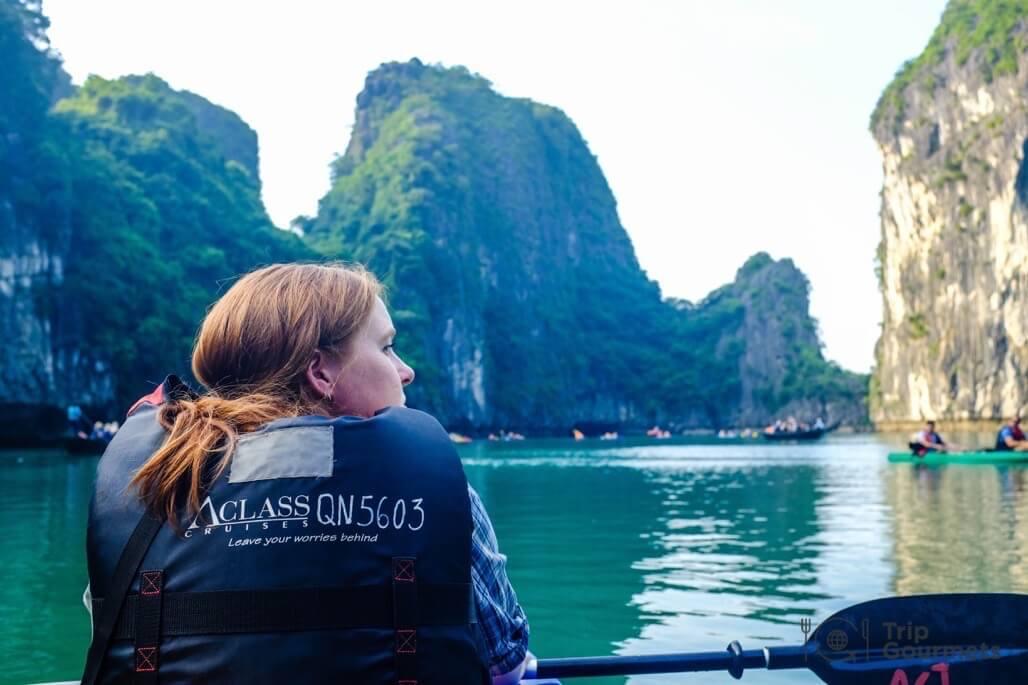 Halong bay cruise review lagoon kayak