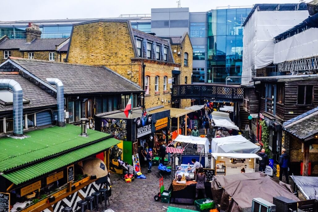 Tripgourmets Walking Regents Canal Inside Camden Market stalls