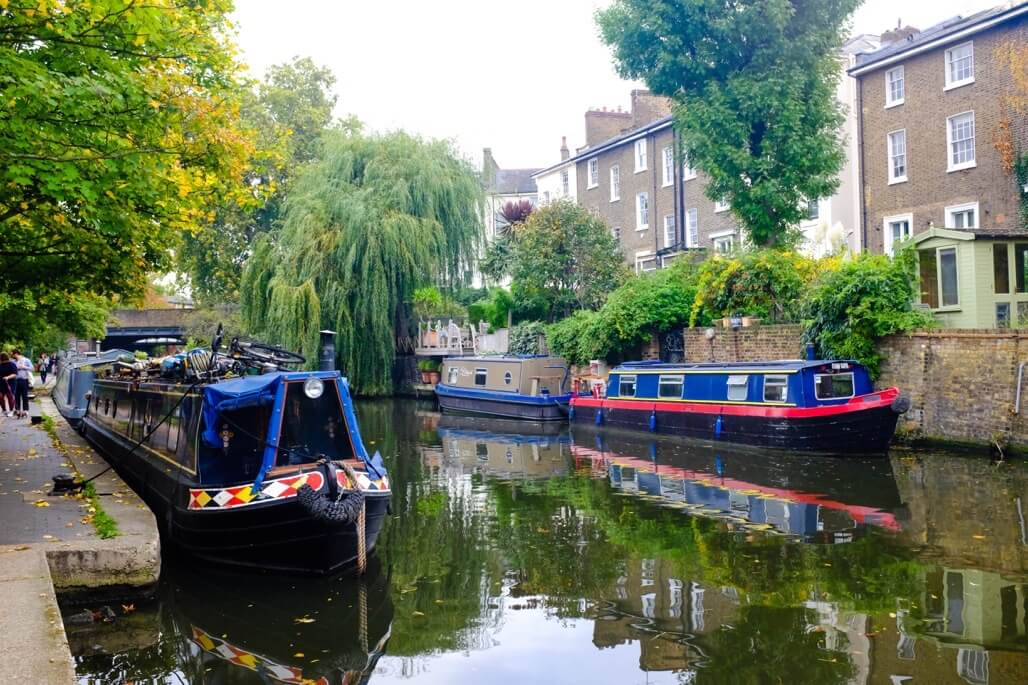 Tripgourmets Walking Regents Canal Narrow Boats