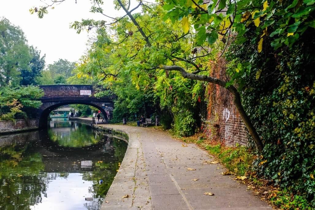 Tripgourmets Walking Regents Canal Bridge reflection