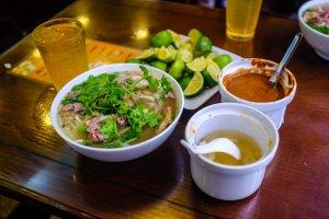Food in Hanoi Old Quarter pho bo