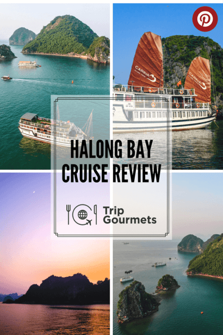 Pinterest Pin for the Halong Bay Cruise Review