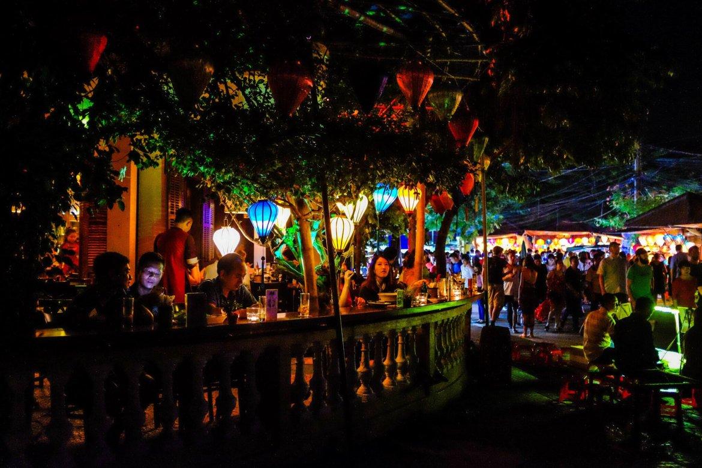 Hoi An Lantern Festival bar restaurant illuminated atmosphere