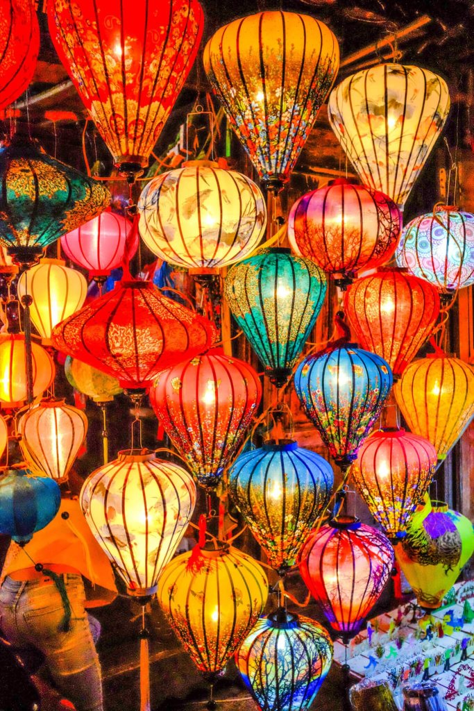 Hoi An Lantern Festival beautiful colourful lanterns