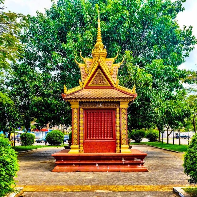 A beautiful little shrine in the middle of Kampot hellip