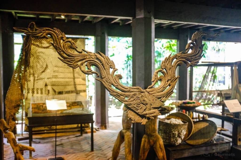 Kamthieng House Sukhumvit Bangkok traditional Lanna building wooden carved Kalae