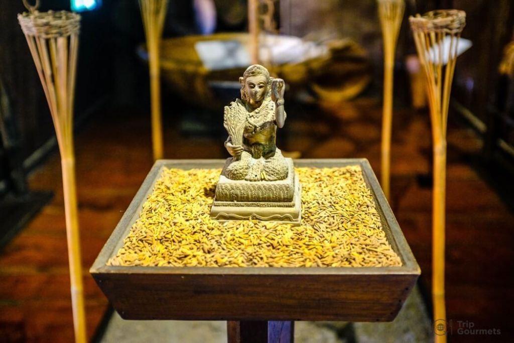 Kamthieng House Sukhumvit Bangkok traditional Lanna building Rice goddess statue