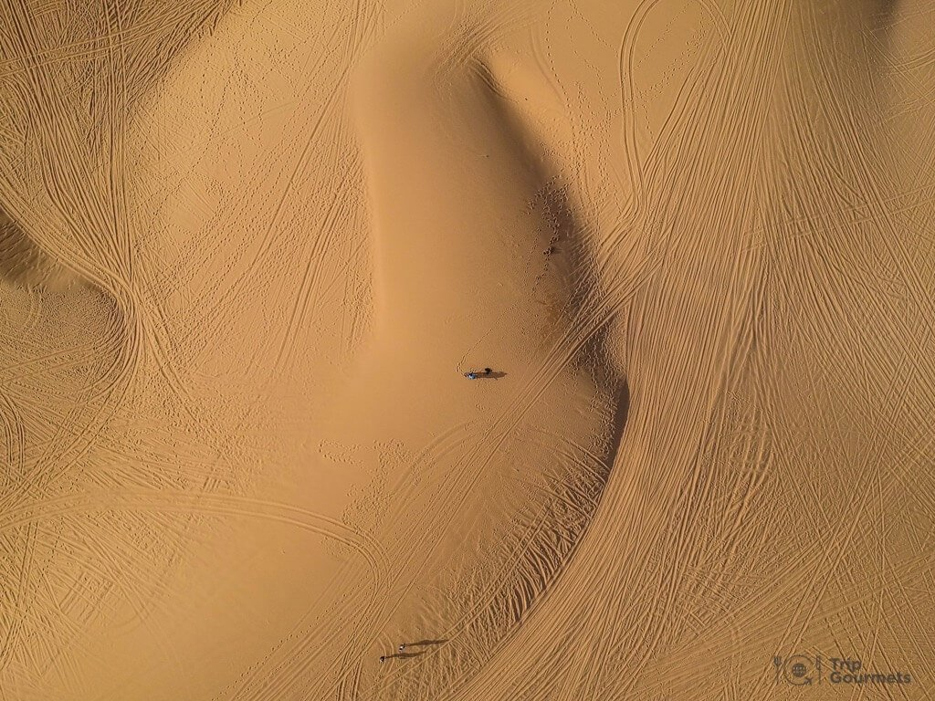 Things to do in Mui Ne Muine White dunes drone footage sand desert