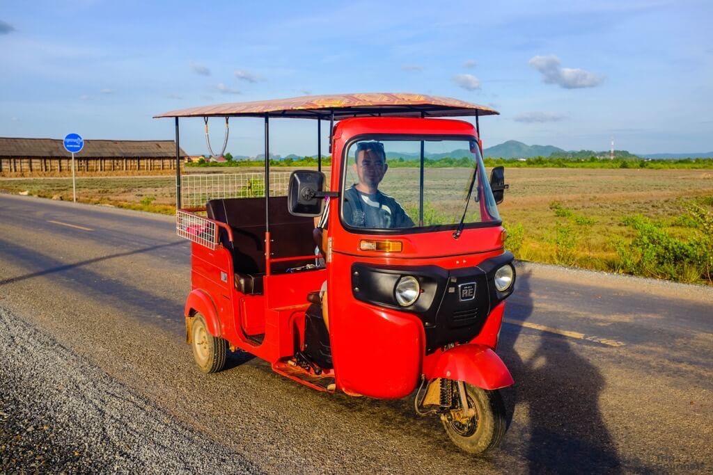 Things to do in Kampot cambodia red TukTuk