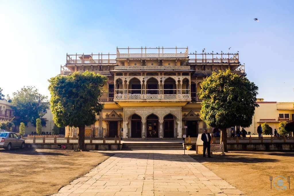 The Mubarak Mahal within the City Palace in Jaipur itinerary