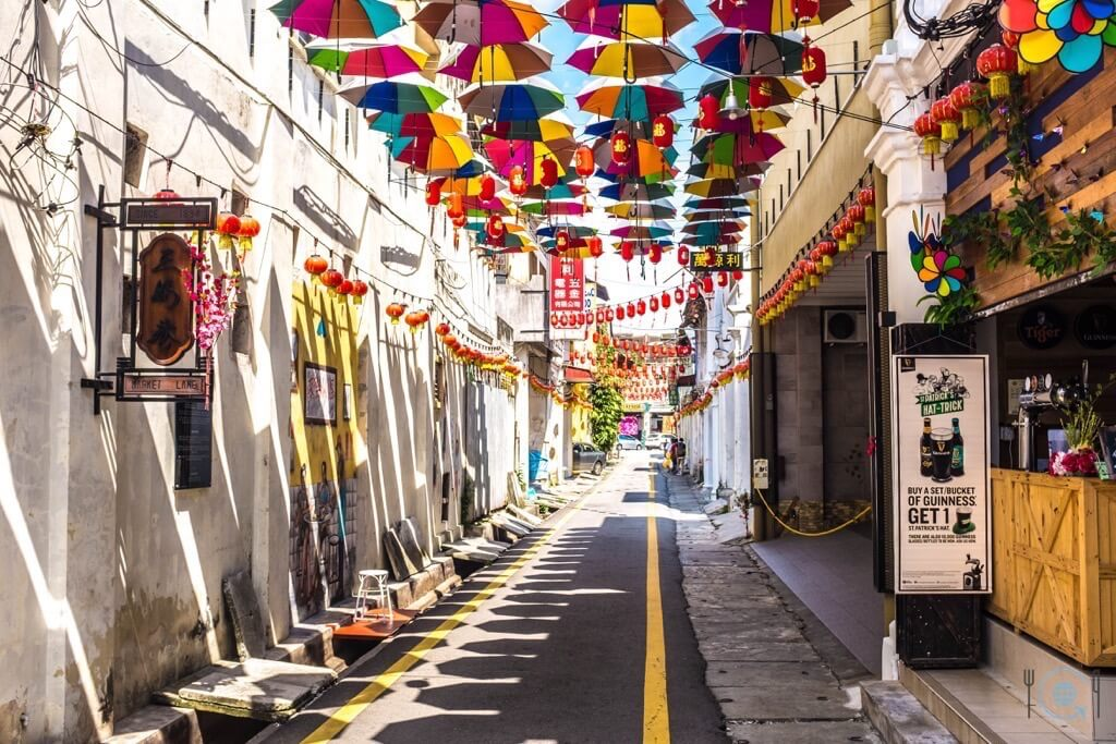 Things to do in Ipoh Umbrellas on Market Street