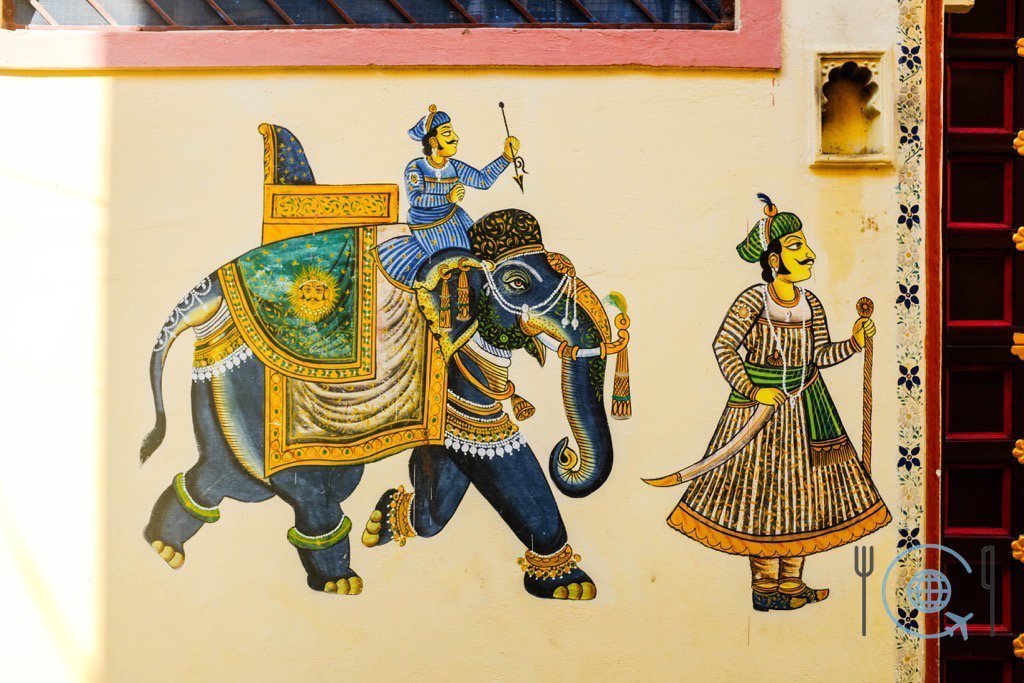 Udaipur Sightseeing -Mewar Painting Elephant