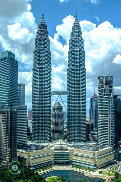 Kuala Lumpur Itinerary Petronas Towers from Traders