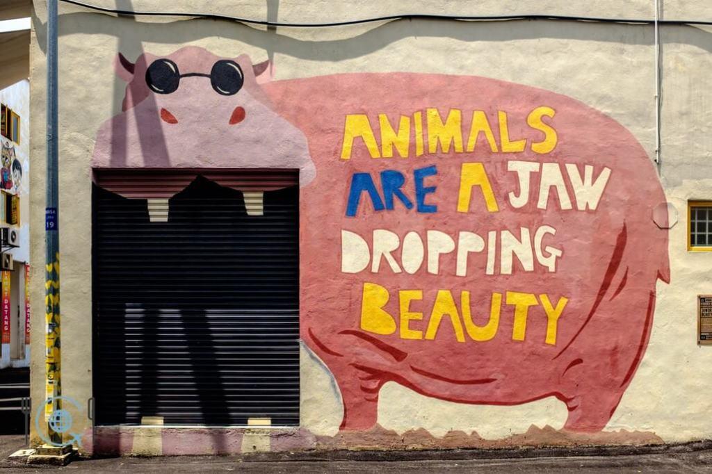 Kuala Lumpur Itinerary Street Art Hippo