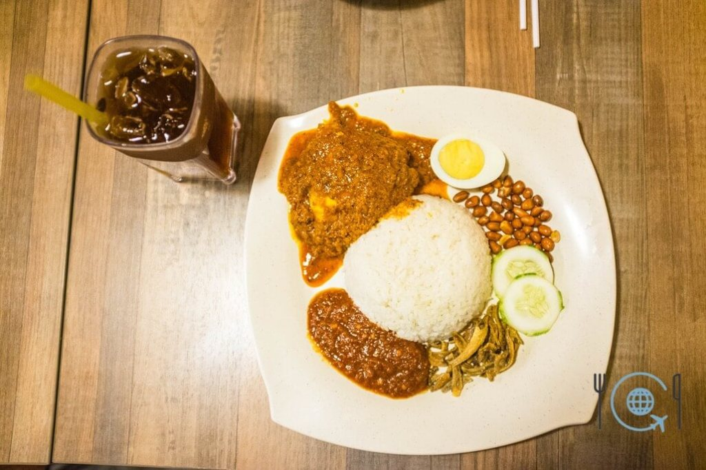 Best Hawker Food in Penang Nasi Lemak Rendang