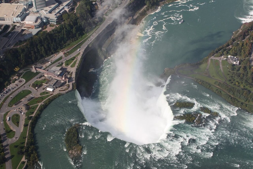 Things to do in Niagara Falls for couples - Helicopter view