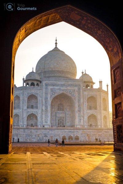 Taj Mahal Sunrise Tour from Delhi - Golden View from Kau Ban Mosque