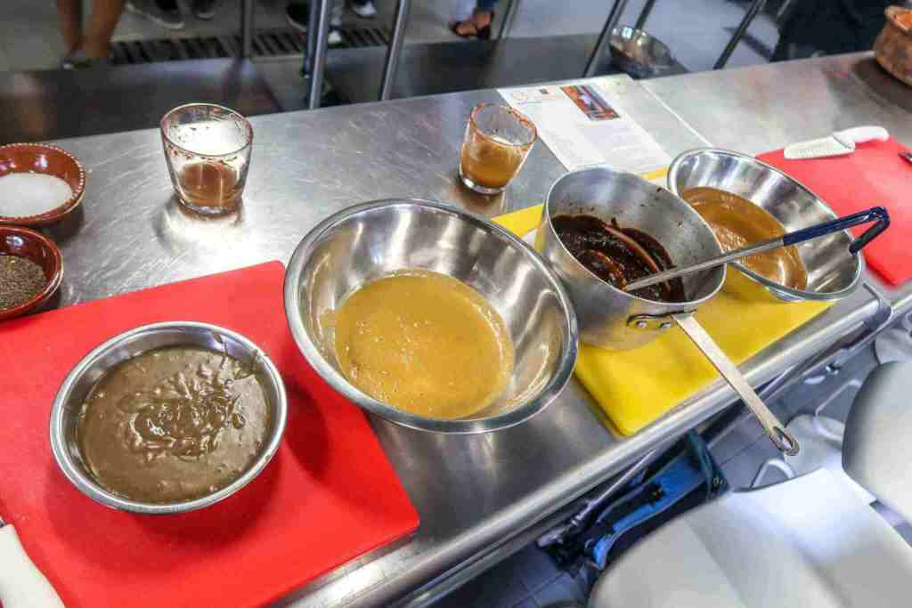 playa del carmen cooking classes - four sauces