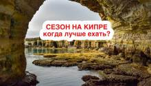 Сезон на Кипре по месяцам