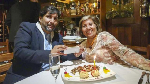 Mi madre y yo en Trattoría San Ceferino Lima Perú