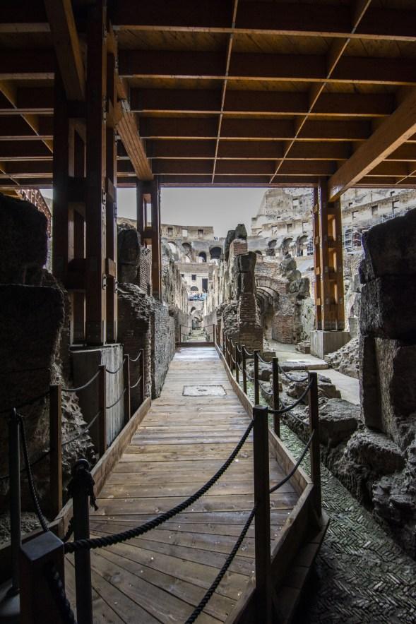 subterráneo Coliseo Romano