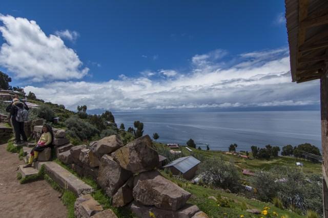 Vista del lago desde Taquile