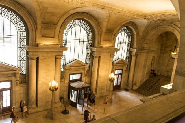 Entrada principal Biblioteca Pública New York
