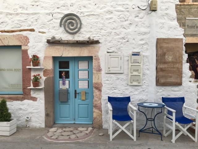 Puertas del puerto Patmos Grecia