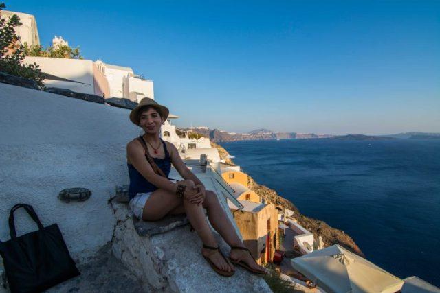 Mi bella cómplice, Santorini y el mar Egéo