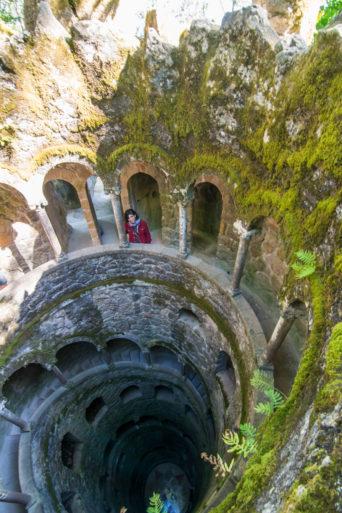 Pozo inciático des de arriba Quinta da Regaleira