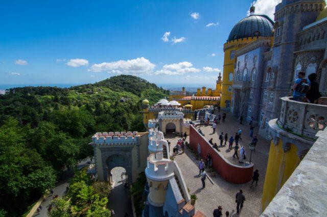 Balcones del palacio da Pena