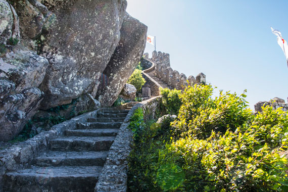 Escaleras hacia las torres