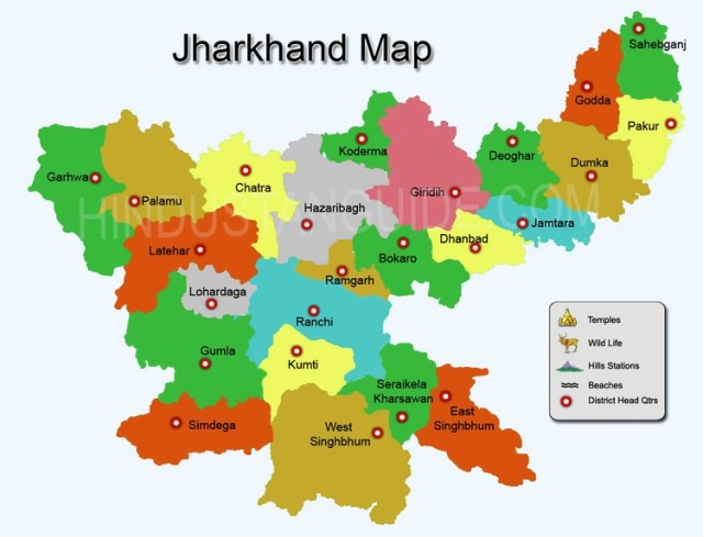 Map of Jharkhand