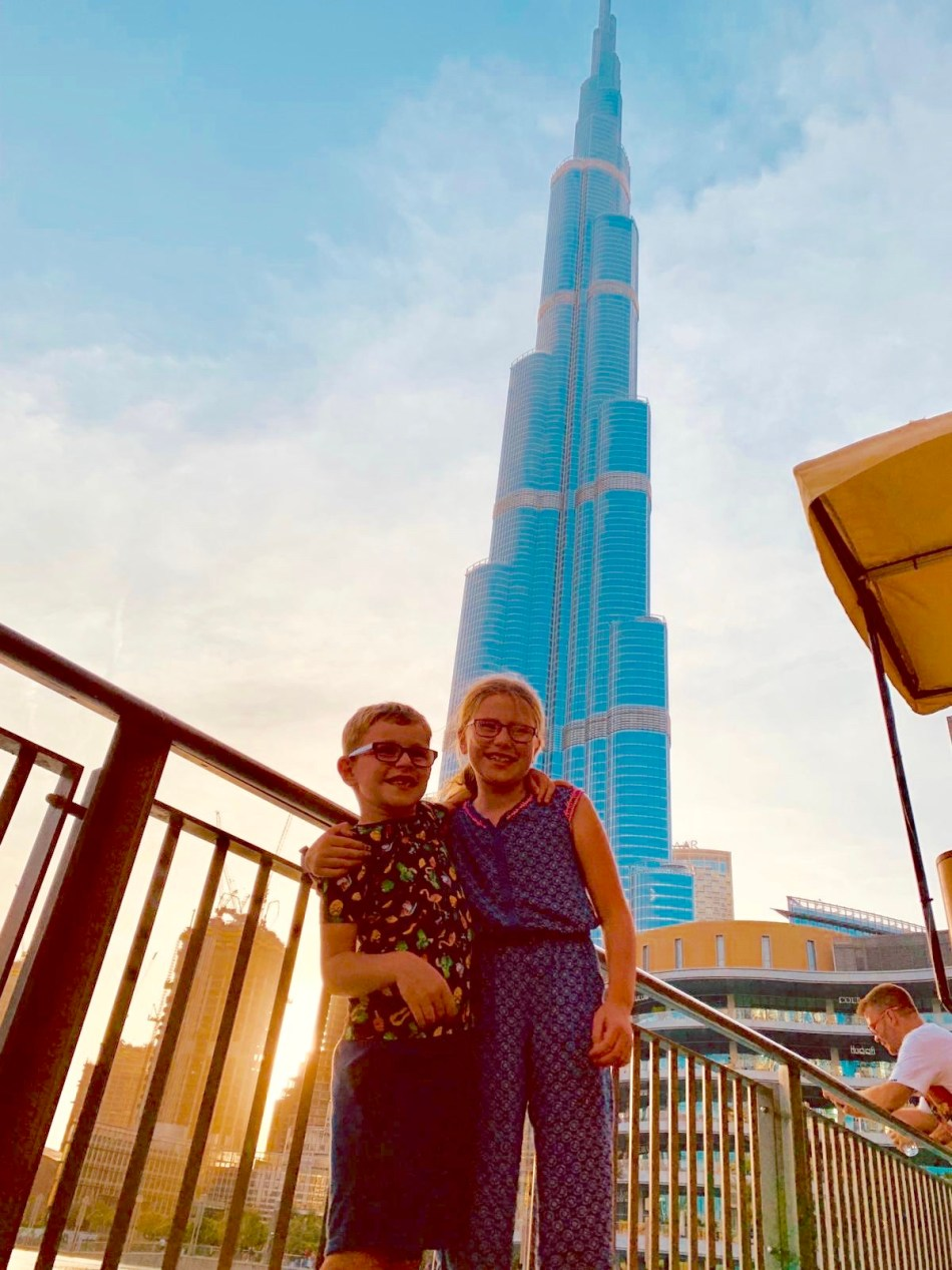 In front of the Burj Khalifa, Dubai