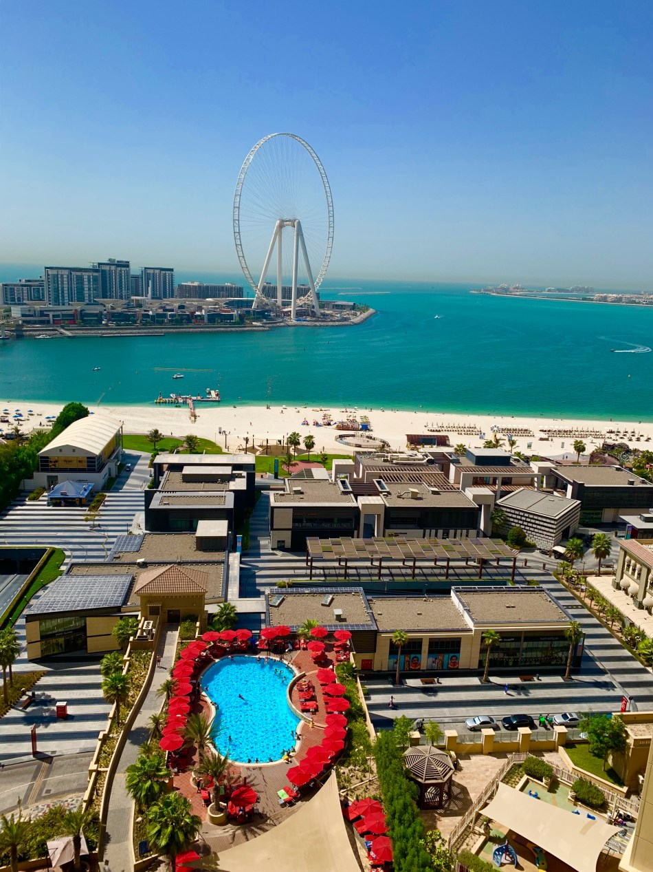 View from the window at hotel Amwaj Rotana in Dubai