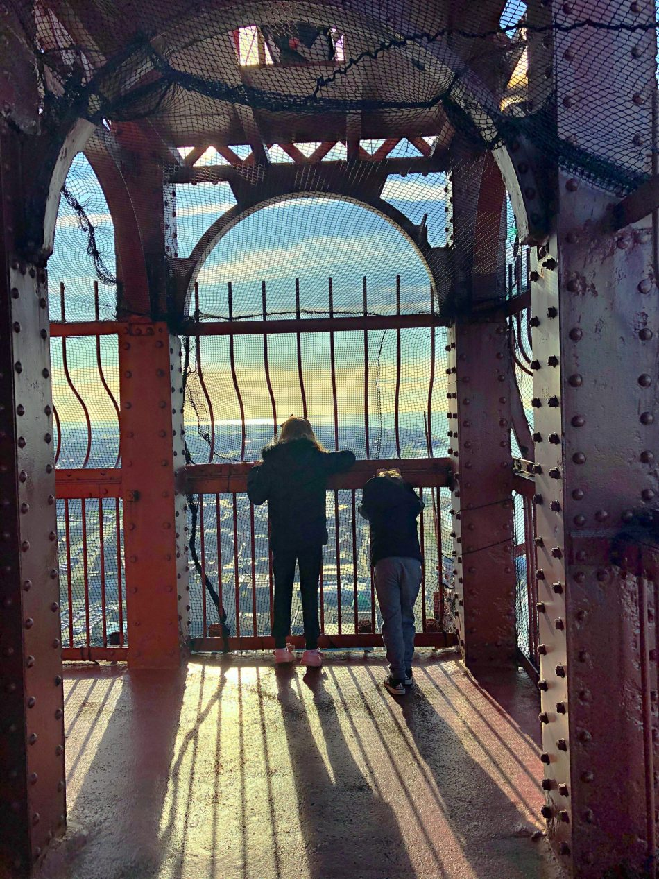 At the top of the Blackpool Tower