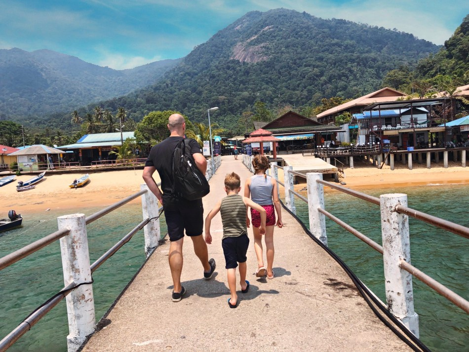 Dock at Paya Beach resort Tioman Island