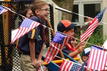 kids at the parade for the 4th of July in Las Vegas