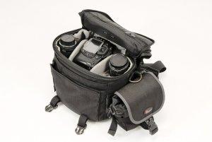A professional camera bag